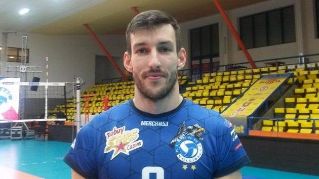 Kladenský volejbalista Filip Habr.