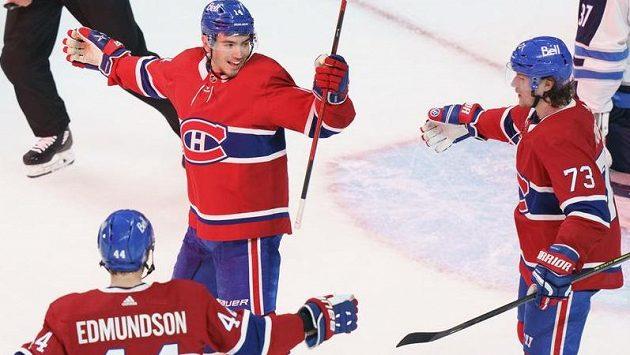 Hokejisté Montrealu se radují z branky