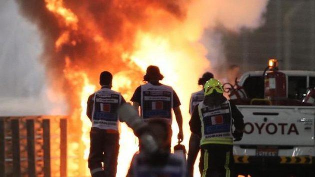Vážná nehoda Romaina Grosjeana