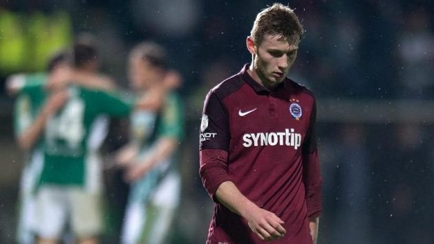 Zklamaný stoper Sparty Jakub Brabec.