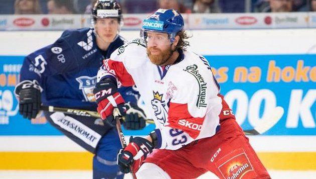Jakub Voráček během utkání s Finy v rámci turnaje České hokejové hry.