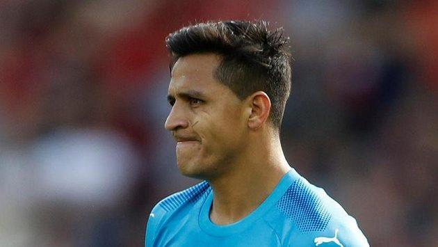 Alexis Sánchez z Arsenalu.