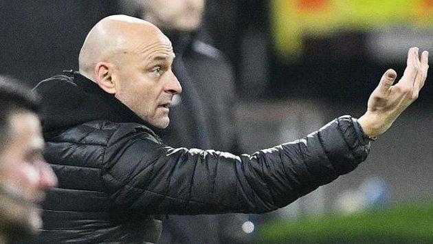 Trenér Plzně Adrián Guľa mohl být s výkonem svého týmu spokojen