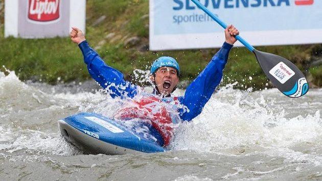 Kajakář Jiří Prskavec se stal potřetí v kariéře mistrem Evropy ve vodním slalomu.