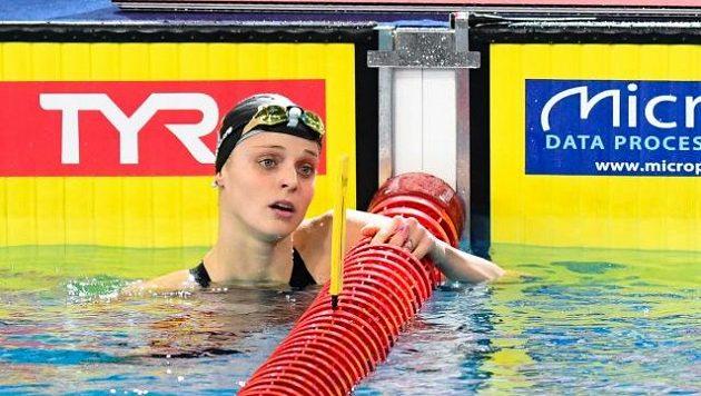 Česká plavkyně Simona Kubová ve finále závodu na 200 metrů znak.