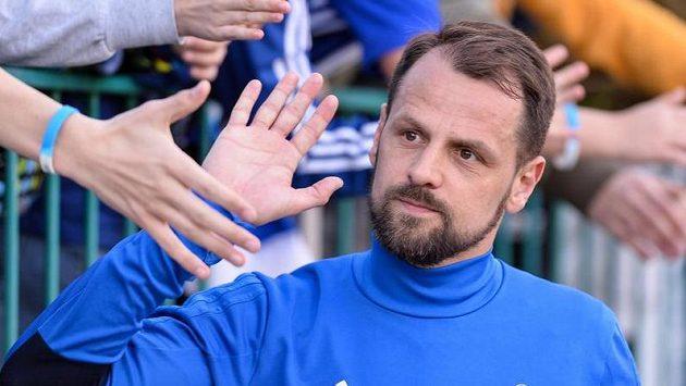 Marek Matějovský z Boleslavi se loučí s diváky po výhře nad Spartou.
