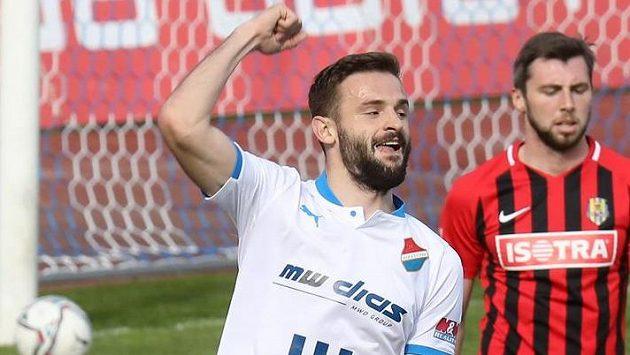 Tomáš Zajíc z Baníku Ostrava se trefil hned dvakrát...