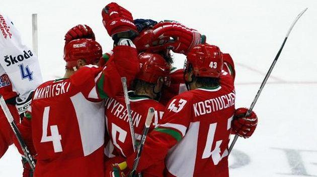 Běloruští hokejisté na archivním snímku.