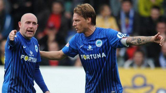 Jiří Štajner (vlevo) a Radoslav Kováč ze Slovanu Liberec.