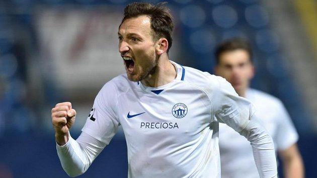 Liberecký útočník Libor Kozák z Liberce se raduje z gólu.
