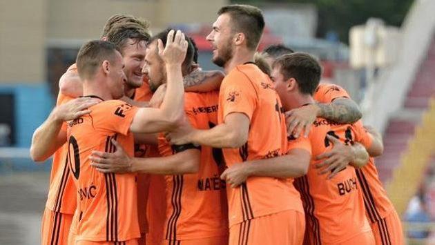 Hráči Mladé Boleslavi se radují z branky. Ilustrační foto.