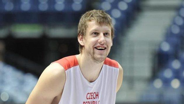 Jan Veselý během tréninku české reprezentace.
