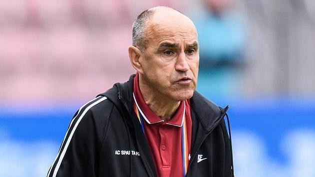 Trenér Sparty Praha Václav Kotal během posledního utkání s Libercem.