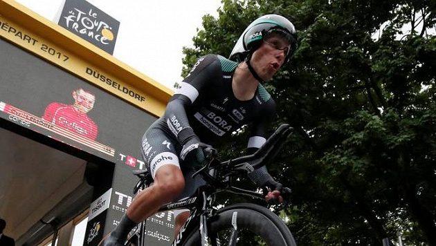 Polák Rafal Majka při časovce v tomto ročníku Tour de France.