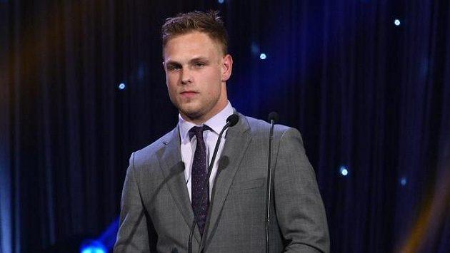 Hokejista Vladimír Sobotka během vyhlášení ankety Zlatá hokejka.