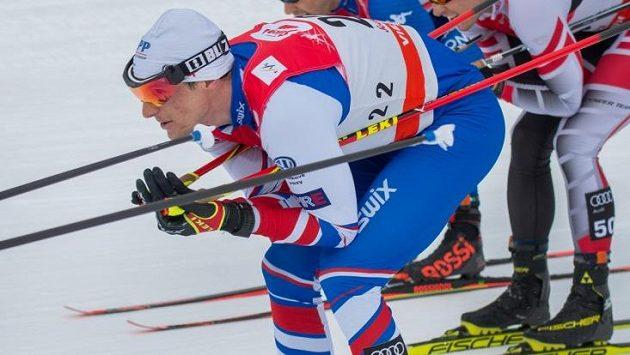 Martin Jakš při Světovém poháru v Seefeldu.
