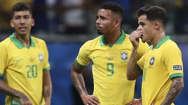 Fotbalistům Brazílie rozhodčí neuznal tři branky
