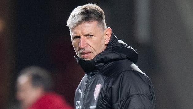 Trenér Jaroslav Šilhavý během tréninku fotbalové reprezentace před utkáním Ligy národů se Slovenskem.
