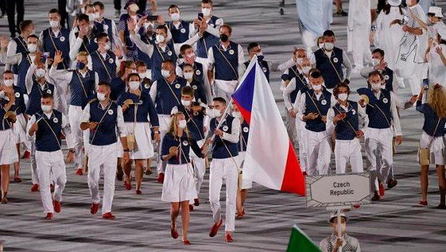 Česká výprava během slavnostního nástupu