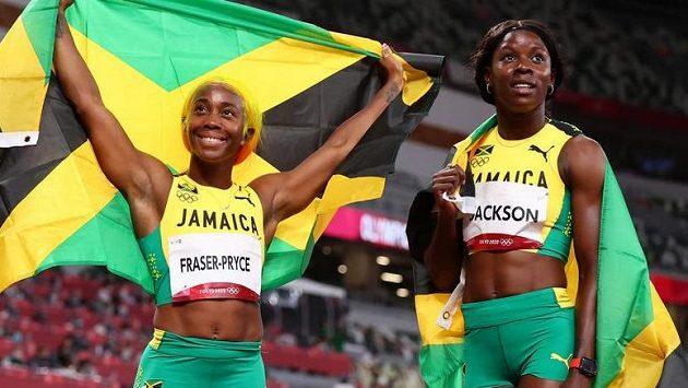 Sprint žen na 100 metrů na olympijských hrách skončila trojnásobným triumfem Jamajčanek