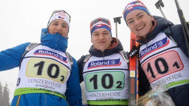 Mladí čeští biatlonisté předvedli výborný výkon