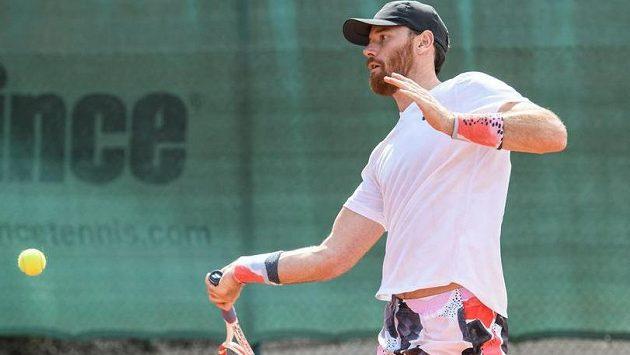 Martin Havlát během červnového tenisového turnaje Hokejka 2020 v Berouně.