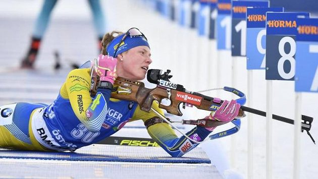 Švédská biatlonistka Hanna Öbergová během individuálního závodu na MS.