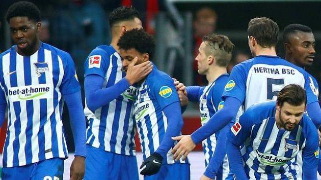 Hertha má důvod k radosti, zvítězila v Leverkusenu.