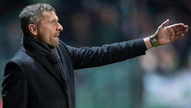 Trenér Bohemians Martin Hašek během utkání s Příbramí.