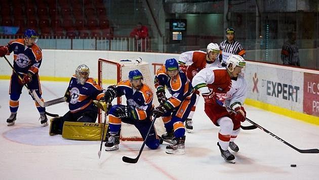 Momentka z utkání Slavia - Litoměřice - ilustrační foto.