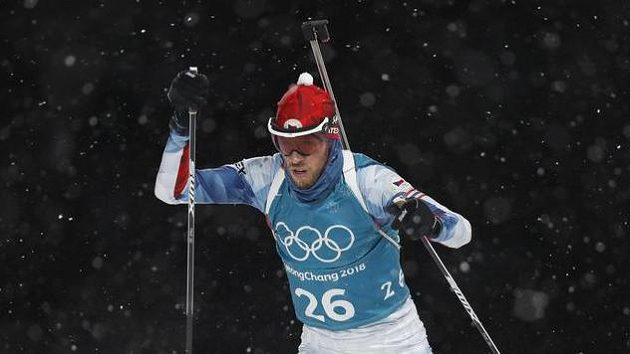 Jaroslav Soukup při tréninku v Pchjongčchangu.