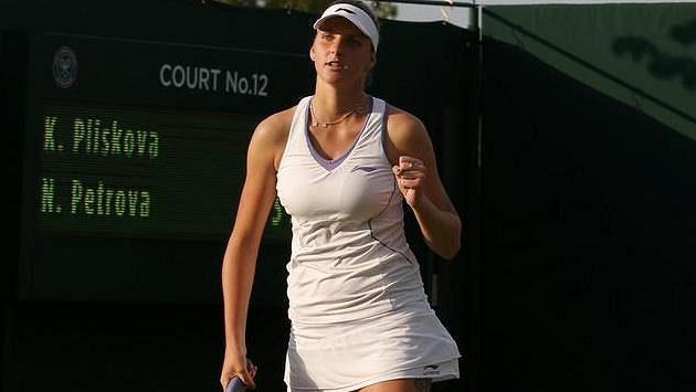 Karolína Plíšková na letošním Wimbledonu.