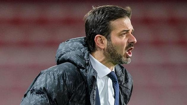 Trenér Sparty Praha Andrea Stramaccioni. Udrží se na své pozici i během zimní pauzy?