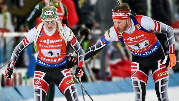 Rakouský biatlonový pár Lisa Theresa Hauserová a Simon Eder ovládl na startu nové biatlonové sezóny sprint dvojic ve švédském Östersundu.