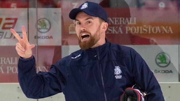 Filip Pešán na tréninku reprezentace.