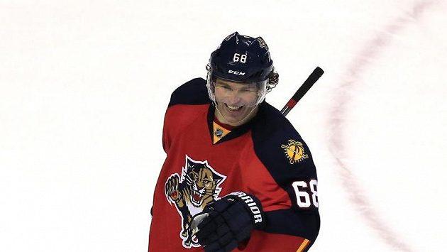Jaromír Jágr má dobrou náladu. Právě vstřelil 732. gól v NHL.