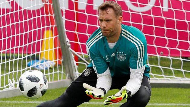 Manuel Neuer při tréninku německé reprezentace.