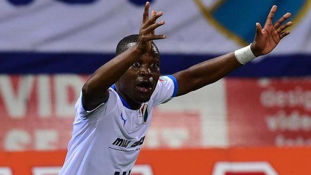Ostravský fotbalista Yira Sor měl být v ligovém utkání v Olomouci vyloučen