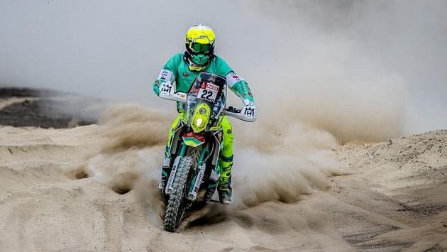 Ondřej Klymčiw na letošním ročníku Rallye Dakar.