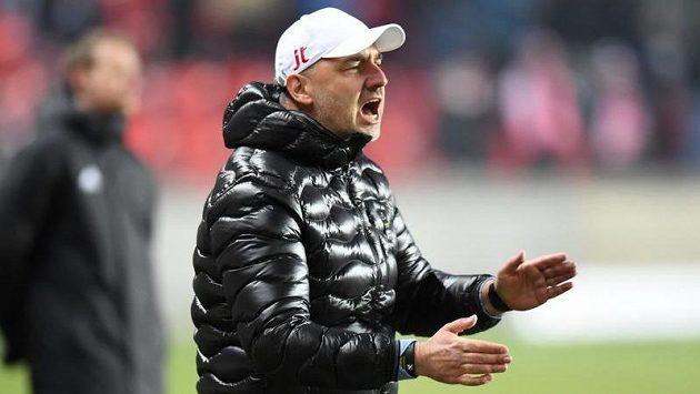 Trenér fotbalistů Slavie Jindřich Trpišovský.