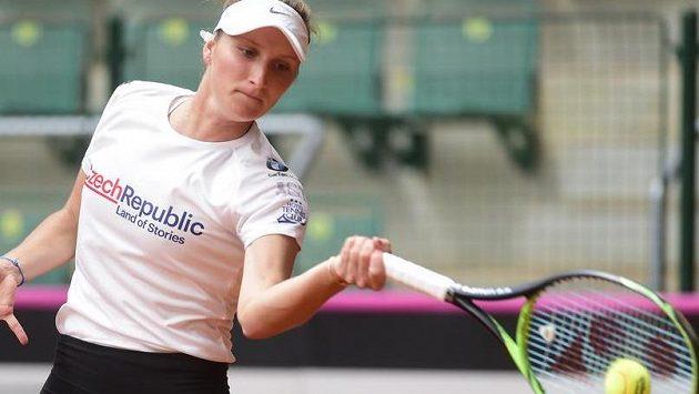 Česká tenistka Markéta Vondroušová během tréninku