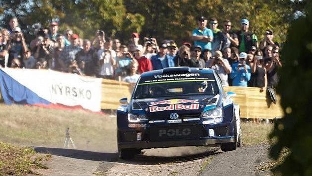 Sébastien Ogier na trati Německé rallye.