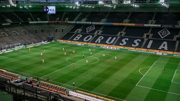 Utkání Borussie Mönchengladbach s Kolínem se hrálo bez diváků