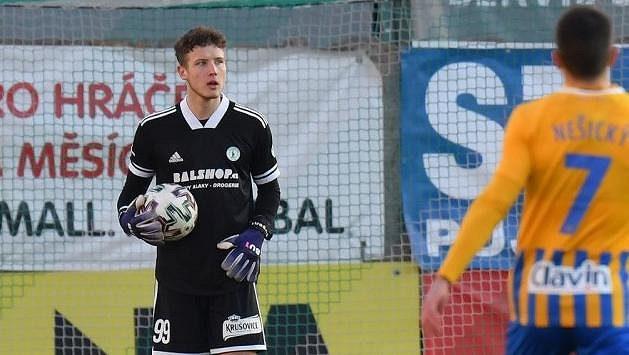 Brankář Bohemians Hugo Bačkovský vychytal ve třetím ligovém zápase už druhou nulu.