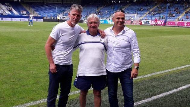 Tři trenérské legendy, které se zlatým písmem zapsaly do historie libereckého fotbalu: (zleva) Jaroslav Šilhavý, Ladislav Škorpil a Vítězslav Lavička.