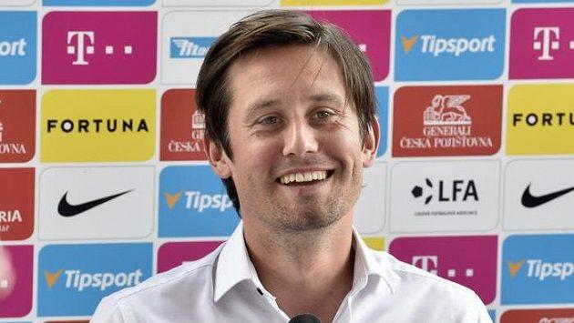 Sportovní ředitel fotbalové Sparty Praha Tomáš Rosický během tiskové konference před startem nové ligové sezony.