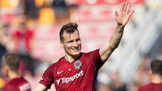Lukáš Štetina ze Sparty po vítězství nad Jabloncem.