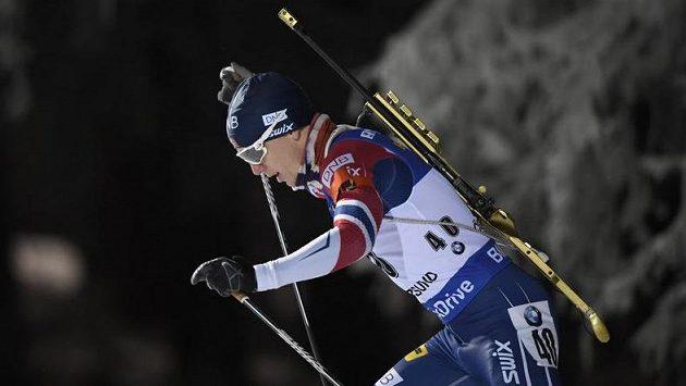 Vítěz Johannes Thingnes Bö z Norska (ilustrační foto)
