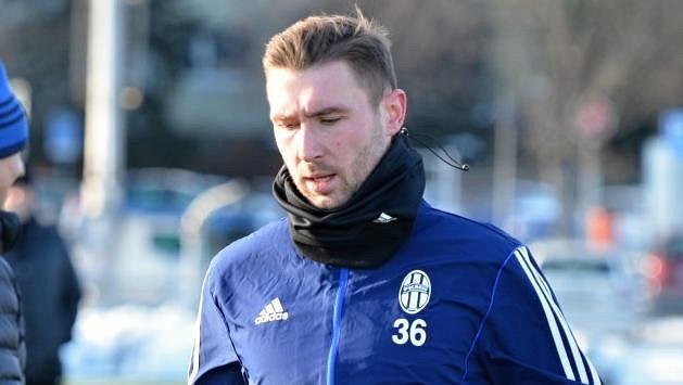 Jaromír Zmrhal během prvního tréninku s Mladou Boleslaví.