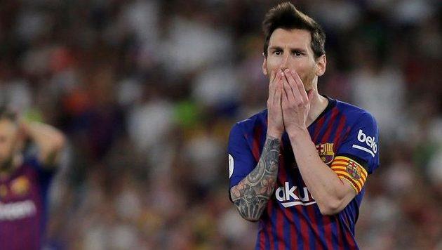 Barcelonský Lionel Messi se dočkal nemilého překvapení.